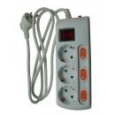Extension socket 3 watt föld 1,5 méter 3 + 1 Switc