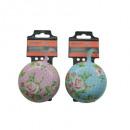 groothandel Fietsen & accessoires: Fietsbel ding-dong 80mm bloem dots mix