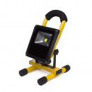 Led floodlight 10 watt rechargeable - flat line