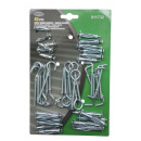 Hollow wall anchors + hooks sorted 45 pieces