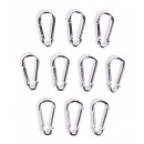Carabine hooks set 10 pieces 6 x 60mm