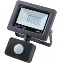 Led floodlight flat 10 watt smd + sensor