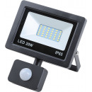 Led floodlight flat 20 watt smd + sensor