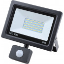 Led floodlight flat 50 watt smd + sensor
