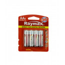 Battery raymax penlite aa lr6 4 pieces alkaline