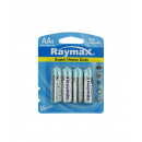 Battery raymax penlite aa r6p 4 pieces zinc