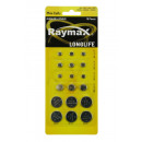 Button cell battery raymax 18 pieces ass