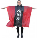 Poncho amsterdam red/black