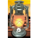 Hurricane lantern led 25 cm aluminium flame effect