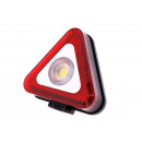 Warning light 3w cob + 9 smd led red/ white
