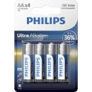Philips ultra Alkaline lr6 aa bl4