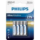 Philips ultra Alkaline lr03 aaa bl4