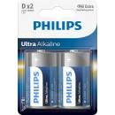 Philips ultra alkaline lr20 d bl2