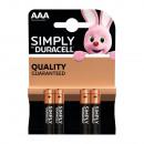 Duracell aaa confezione da 4 semplicemente