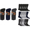 wholesale Jeanswear: set of 5 socks man, plain bouclette co