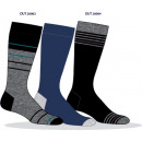 set of 3 socks man, stripes gray / ma