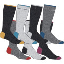 set of 7 socks man, two-tone