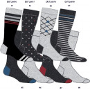 set of 8 socks man, patterns gray china