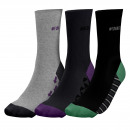 set of 3 socks man, geek lot gray