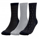 set of 3 socks man, penguin & stripes
