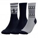 Satz von 3 Socken Mann, Nevada Navy / g