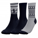 set of 3 socks man, nevada navy / g