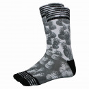 man socks, print pineapple black & white