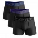 wholesale Fashion & Apparel: set of 3 boxer shorts man, black belt blue /