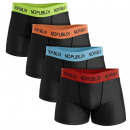 set of 4 men's boxer shorts, black belt 2.7