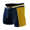 Boxershorts Mann, Sportbekleidung Marine / Senf