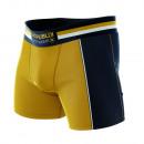 Boxershorts Mann, Sportswear Senf / Marine
