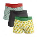 Set mit 3 Herren-Boxershorts, Wassermelone und Zit