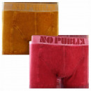 ensemble de 2 boxer short homme, uni stone red / m