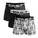 wholesale Fashion & Apparel: set of 3 boxer shorts man, mexican skull