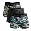 set of 3 boxer shorts man, Camouflage