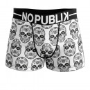 boxer shorts man, mexican skull white