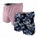 set of 2 men's boxer shorts, blue flowers / pi