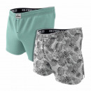 set of 2 men's boxer shorts, pineapple graph /