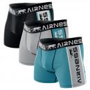 Set mit 3 Herren Boxershorts, blau / grau / schwar