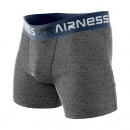 boxer shorts man, gray blue belt