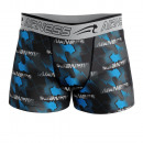 Herren Boxershorts, blaue Energie
