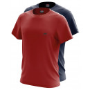 ensemble de 2 T-Shirt homme, twice rouge et marine