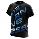 T-Shirt homme, kaleidoscope noir