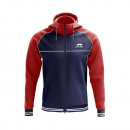 windbreaker man, venus navy / red collar