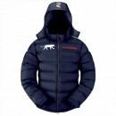 man down jacket, fortney navy