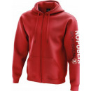 Men's sweatshirt, red sports hood