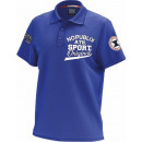 Polo Shirt Mann, original blau