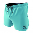 swimsuit man, plain light blue / dark