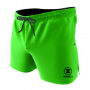 swimsuit man, plain green / black