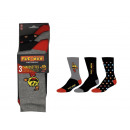set of 3 man socks, Characters